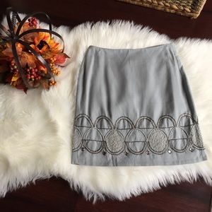 Banana Republic Beaded Embroidered Skirt Sz 00P